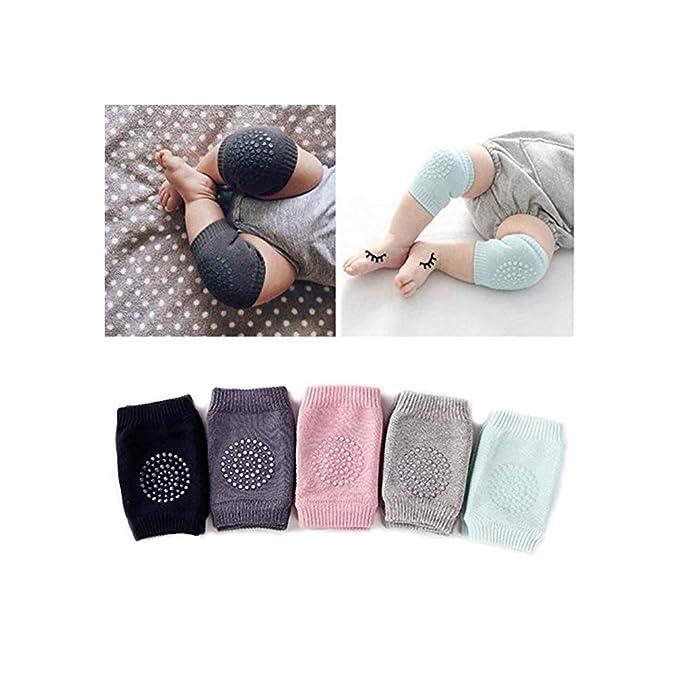 Baby Crawling Anti-Slip Knee pads, Unisex Baby Toddlers Kneepads Knee Protector (Multi colors, 5 Pairs Pack)