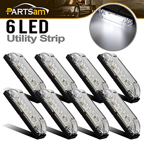 - Partsam 8X 4 Led Utility Strip Light 6 Diodes Surface Mount Lighting/Decorating White, Sealed RV Boat Marine Led Bar Lights Marker Lights Courtesy Convenience Light Lamps 12 Volt DC