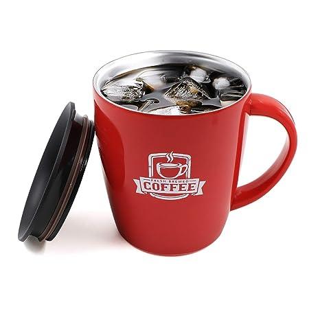 Amazon.com: ROCONTRIP - Taza de café de acero inoxidable ...