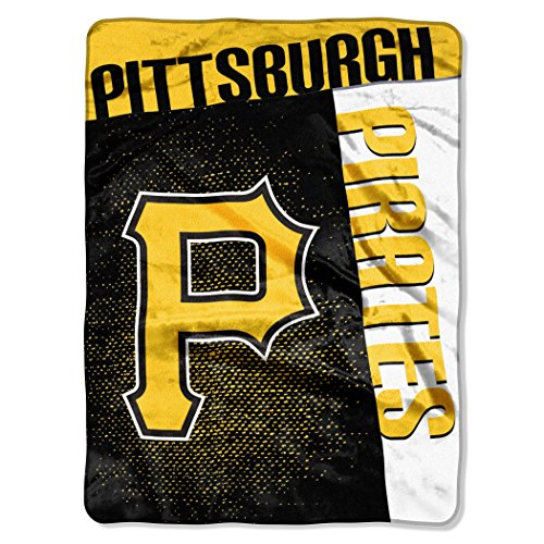 Officially Licensed MLB Pittsburgh Pirates Strike Raschel Throw Blanket, 60