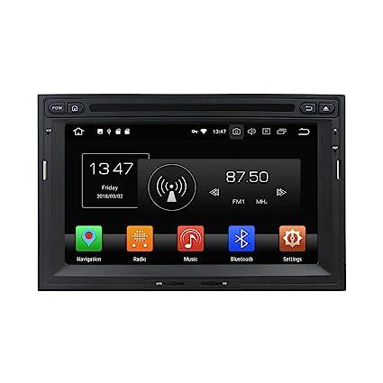 Android 8.0 Octa Core reproductor de DVD GPS navegación Multimedia estéreo de coche para Peugeot 3008