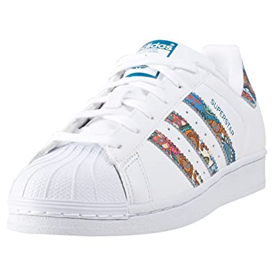eb63efe084860 Adidas Damen By9177 Superstar Sneaker Weiß, 43 1/3 EU: Amazon.de ...