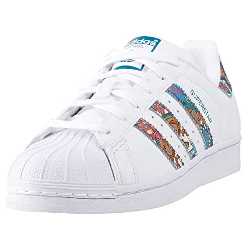 adidas Women's BY9177 Fitness Shoes, White (Ftwbla/Ftwbla/Aguama), 4
