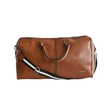 631d9dcbca3e Goblin PU Leather Brown Duffle Bag  Amazon.in  Bags