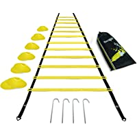 Yes4All Combo Agility Ladder with Agility Cones - Multicolor