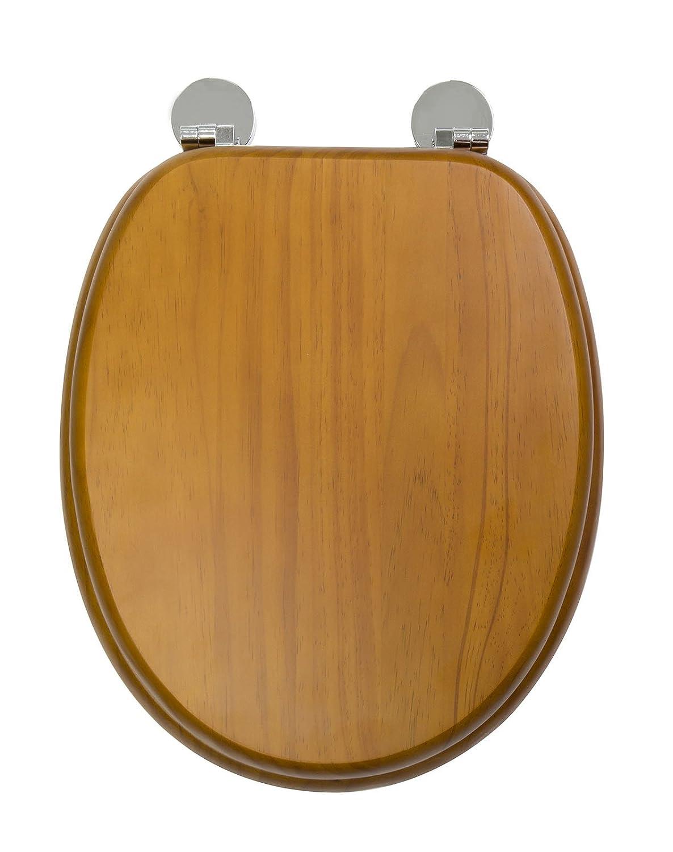 Croydex Flexi-Fix Davos Siempre Nunca Se Adapta Slips –  Asiento para Inodoro con Tapa, Madera, Efecto de Pino Envejecido, 43 x 36,5 x 6 cm 43x 36 5x 6cm WL602250H