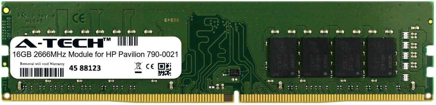 A-Tech 16GB Module for HP Pavilion 790-0021 Desktop /& Workstation Motherboard Compatible DDR4 2666Mhz Memory Ram ATMS311807A25823X1