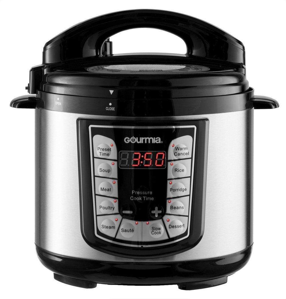 Gourmia GPC400 Smart Pot Electric Digital Multifunction Pressure Cooker, 4 qt Stainless Steel