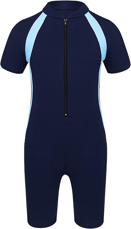 JanJean Kids Boys Girls One-Piece Swimsuits Rash Guard Suits Swimwear Shorty Wetsuit UPF 50+ UV Sun Protection