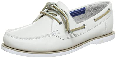 Rockport Womens BONNIE LOW BOAT SHO WINTER WHITE Lace-Ups White Weiß  (WINTER WHITE