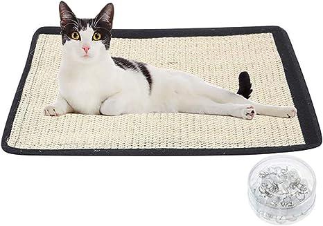 Ideal Swan [2 Piezas] Alfombrilla para rascar Gato 45 x 30 cm Rascador para Gatos Rasguño de Gato Protege alfombras y sofás