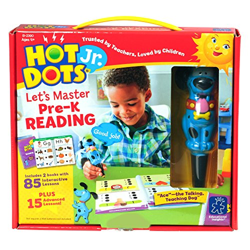 Educational Insights Hot Dots Jr. Let's Master Pre-K Reading Set with Ace Pen]()