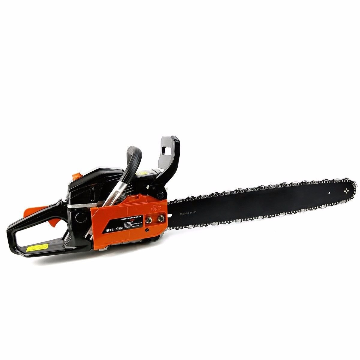 onestops8 chainsaw cutting wood gas chain saw aluminum gasoline 2.4hp engine