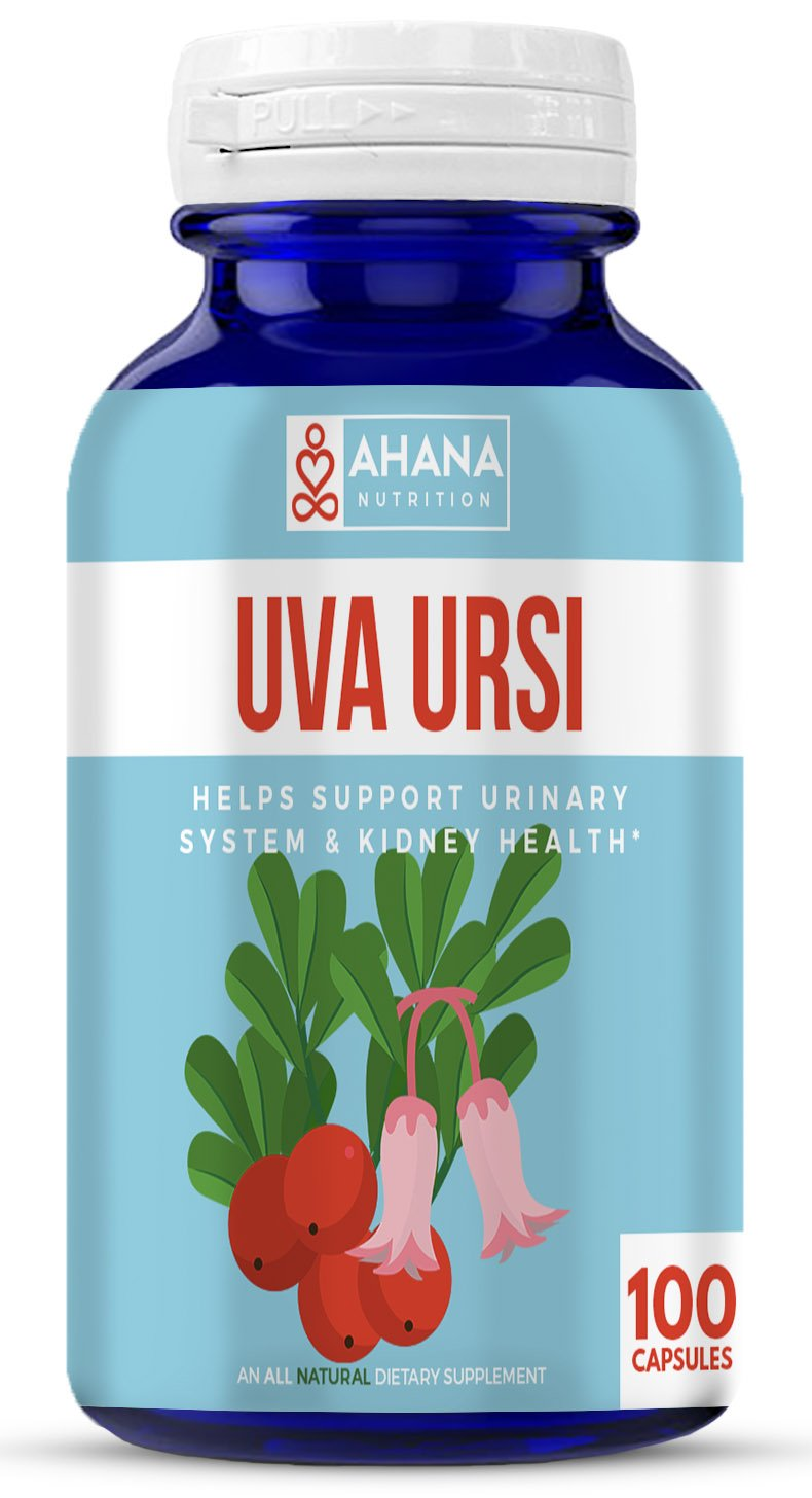 Uva Ursi Capsules (Bearberry Extract) - Supports Urinary Tract Health, AIDS Diuretic Health & Maintains Kidney Health