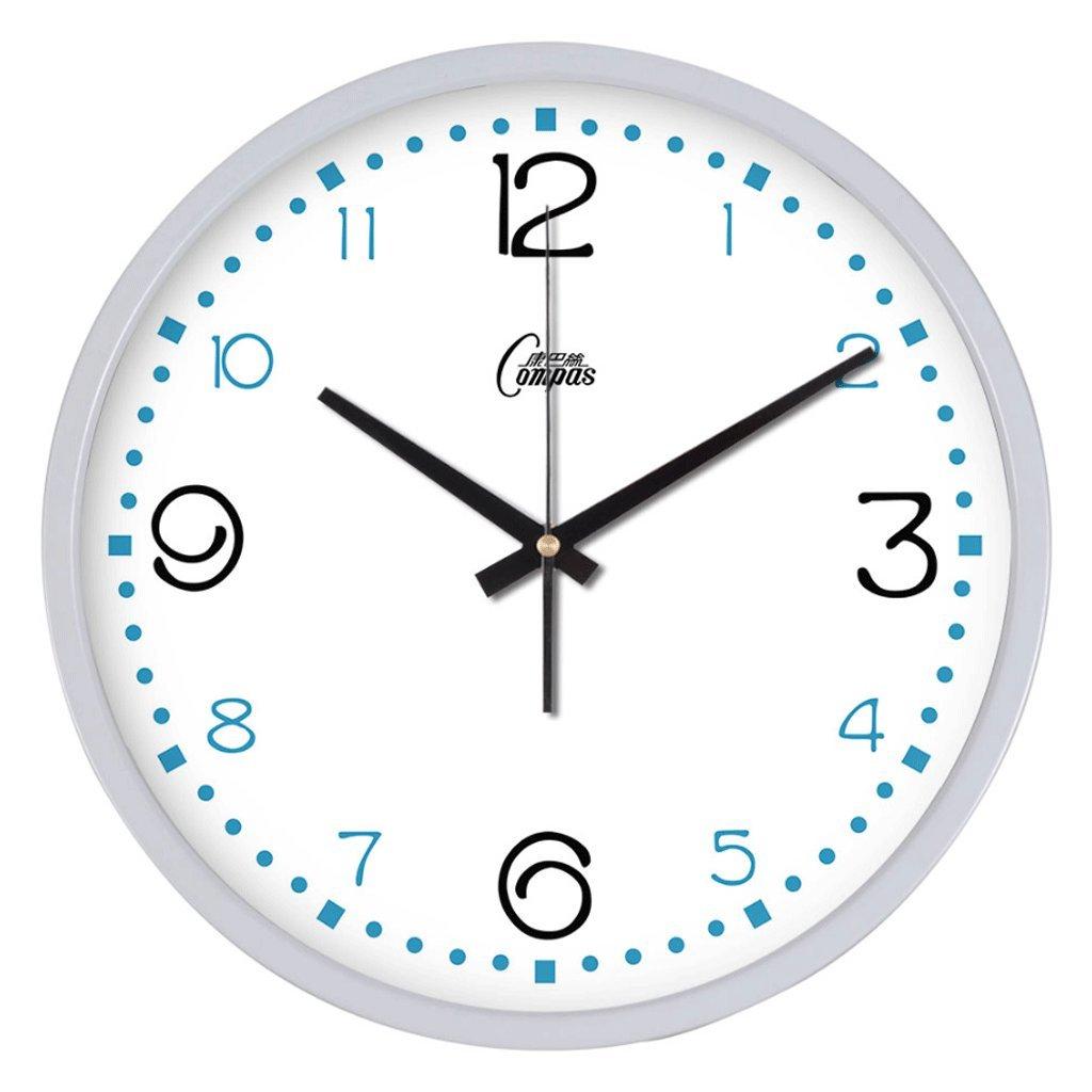 ウォールクロックリビングルームファッションクリエイティブメタルミュート時計時計ウォールチャートシンプルなクリエイティブクォーツ時計 (色 : B, サイズ さいず : 14 inches) B07F6QPL33 14 inches|B B 14 inches