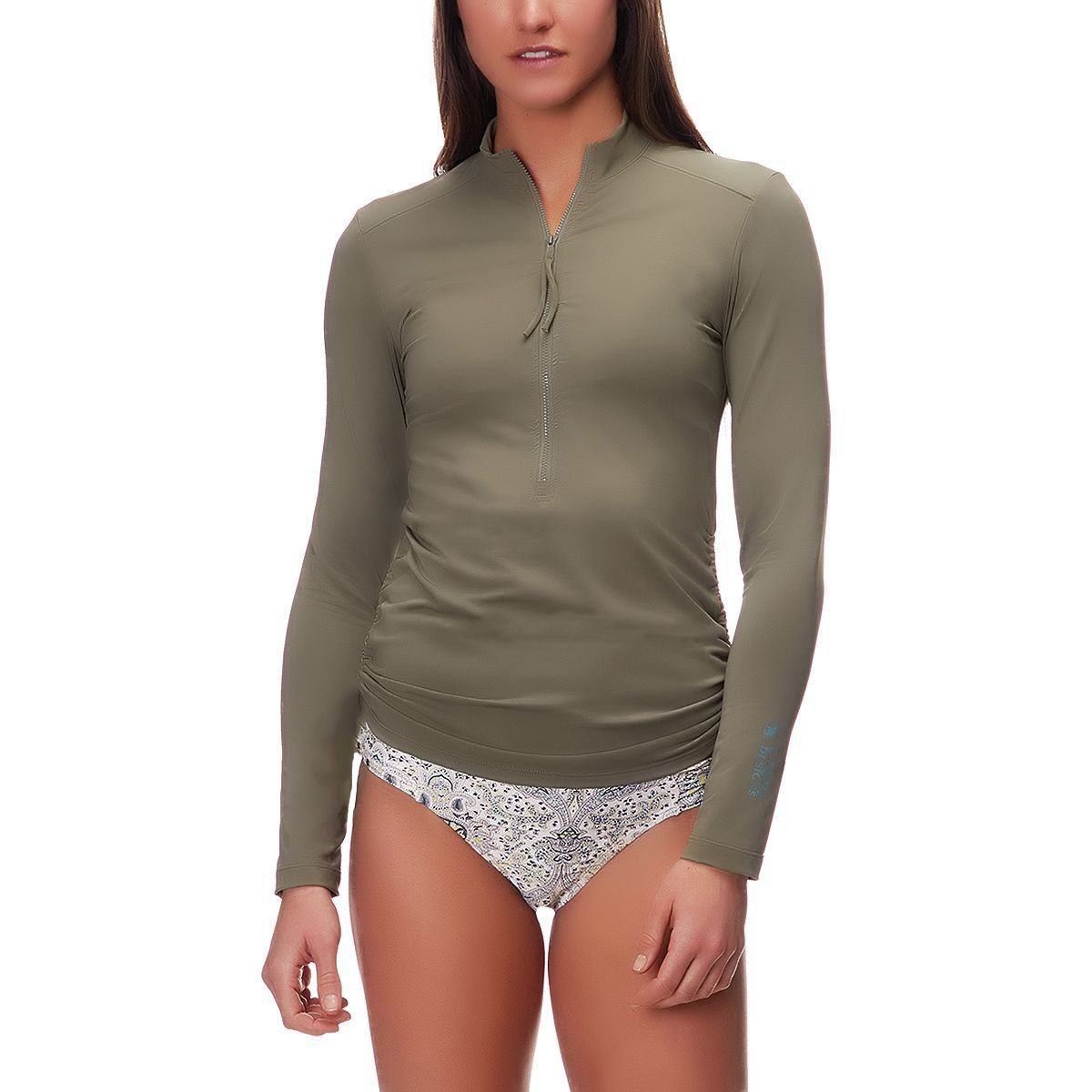 CARVE Designs Cruz Rashguard, Olive, X-Small