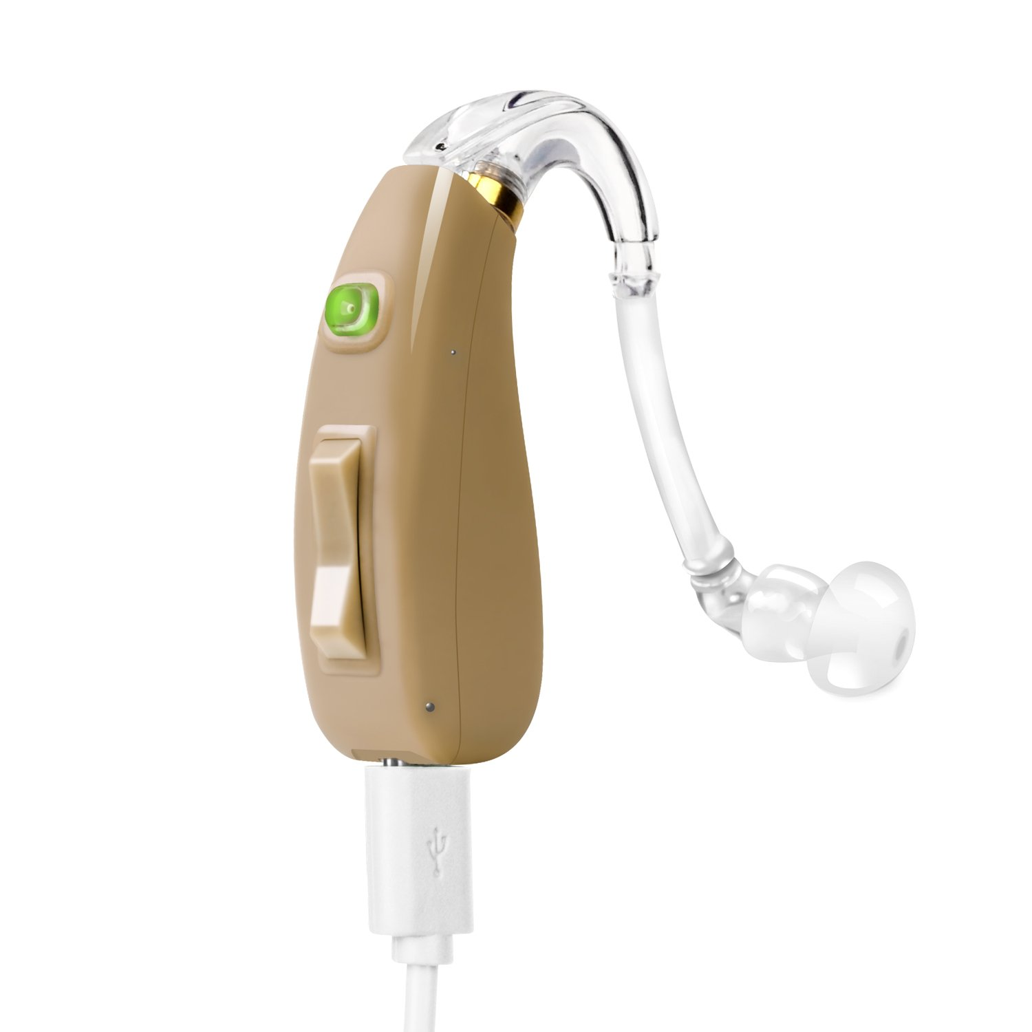 Banglijian Hearing Amplifier Rechargeable Ziv-201 ''FDA Approved'' High Quality Digital BTE Small Size