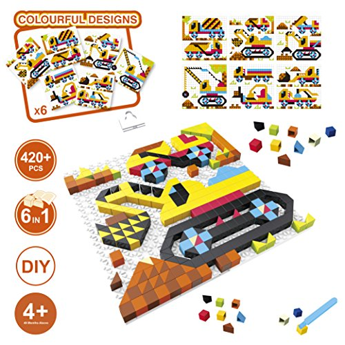 420 pieces, 6 in 1 engineering theme building set, 420 pieces kids DIY engineering excavator, truck crane, concrete mixer building blocks set, Fine Motor, Room Décor, gifts for kids 4 - My Head Shape What Is