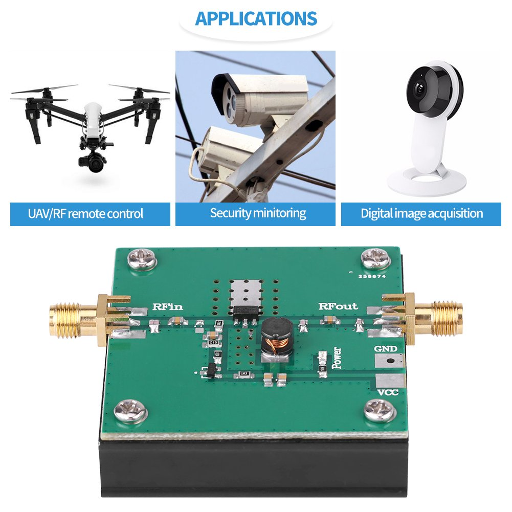 1 UNIDS 433 MHz RF Amplificador de Potencia 5W SMA Conector para Transmisor Remoto 380-450 MHz