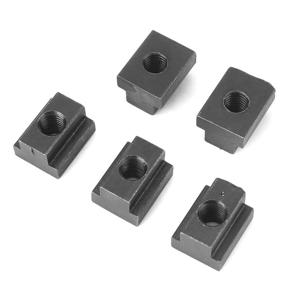 5 Pcs T Slot Nuts M8,Black Oxide Finish T Slot Nuts M8 Threads Fit Into T-Slots in Machine Tool Tables,45 Steel