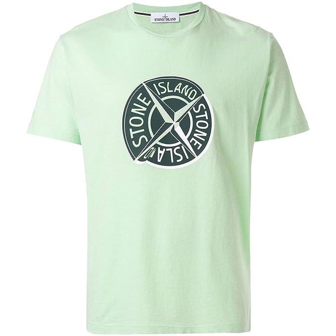 d6c3a12efea9c Stone Island Compass Logo T-Shirt Green V0052 2NS89 Small  Amazon.co.uk   Clothing