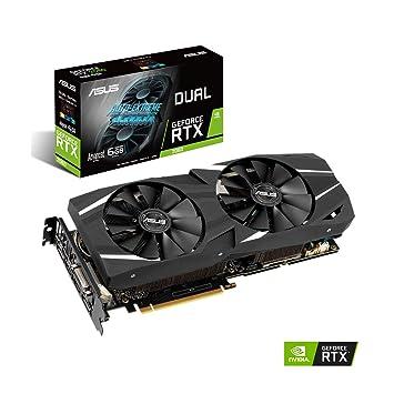 ASUS GeForce RTX 2060 Advanced Overclocked 6G GDDR6 Dual-Fan Edition VR  Ready HDMI DP 1 4 DVI Graphics Card (DUAL-RTX-2060-A6G)
