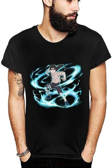TSHIMEN Camisetas Hombre Originales la Colmena Naruto Verano 2019 para Hombre Camiseta Nueva Camiseta con Estampado gráfico de Dibujos Animados para Hombres Camiseta de algodón Negro: Amazon.es: Ropa y accesorios