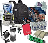 4 Person Deluxe Family Emergency Survival Bag/Kit – Equipped with 72 hrs of Food, Water & Shelter - Disaster Preparedness Supplies - Bug Out Bag for Earthquake, Hurricane, Fire, & Flood -
