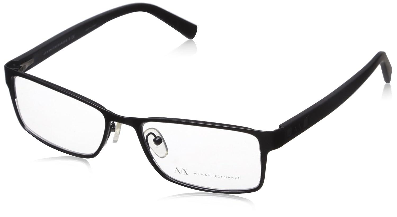 Armani Exchange AX 1003 Men's Eyeglasses Satin Black 52 AX1003