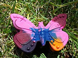 Delidge 8 Cavity Petite Butterfly Silicone Casting Chocolate Mold Soap Wax Crayon DIY Decorating Tool ,Blue