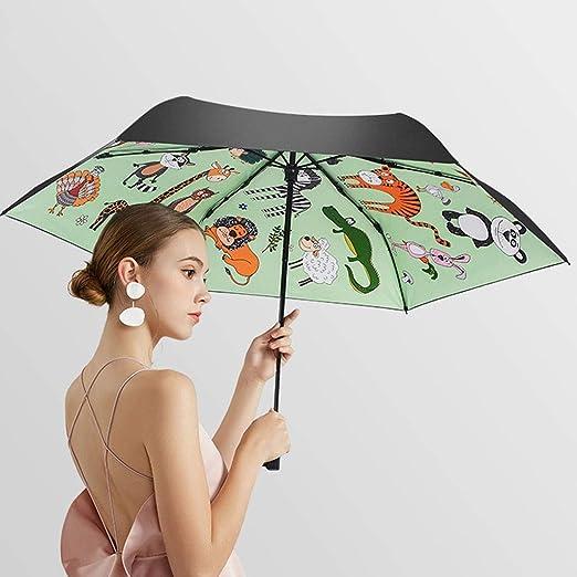 SJW Paraguas sombrilla de Dibujos Animados Pintados a Mano ...