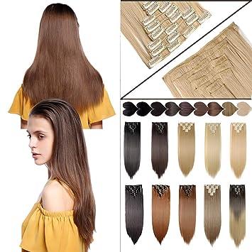 amazon co jp 8ピースcurly straight hair extension ビューティー