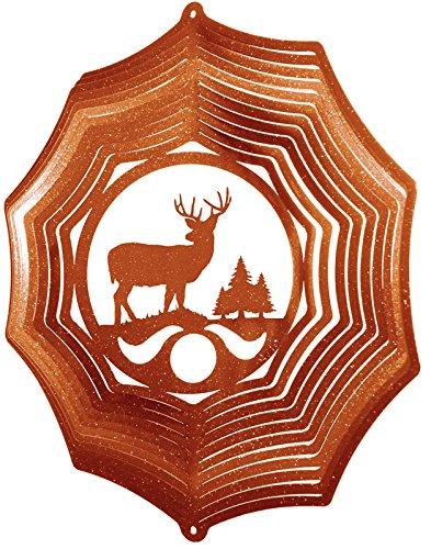 - SWEN Products Deer Buck Web Swirly Metal Wind Spinner