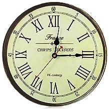 Large Wall Clock New Horloge Murale Quality European Style Vintage Creative Wood Quartz Silent Retro 3D Wall Clock
