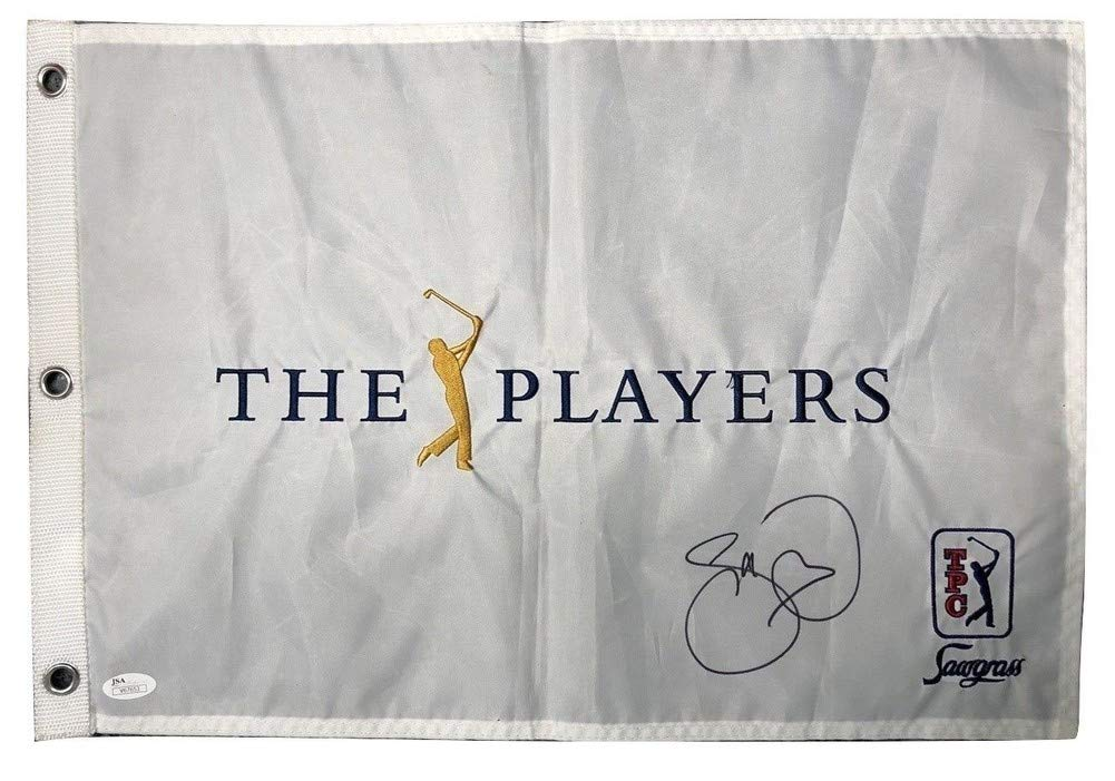 Jason Day Autographed Signed The Players Flag JSA Authentic
