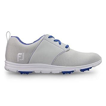 FJ enJoy Damen Golfschuhe - Spikeless & Ultrabequem (38.5, Blue/Pink)