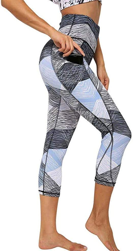 Tsmile Women Plus Size Ultra Stretch Yoga Pants Quick Dry Workout Pocket Leggings Fitness Sports Gym Running Pants