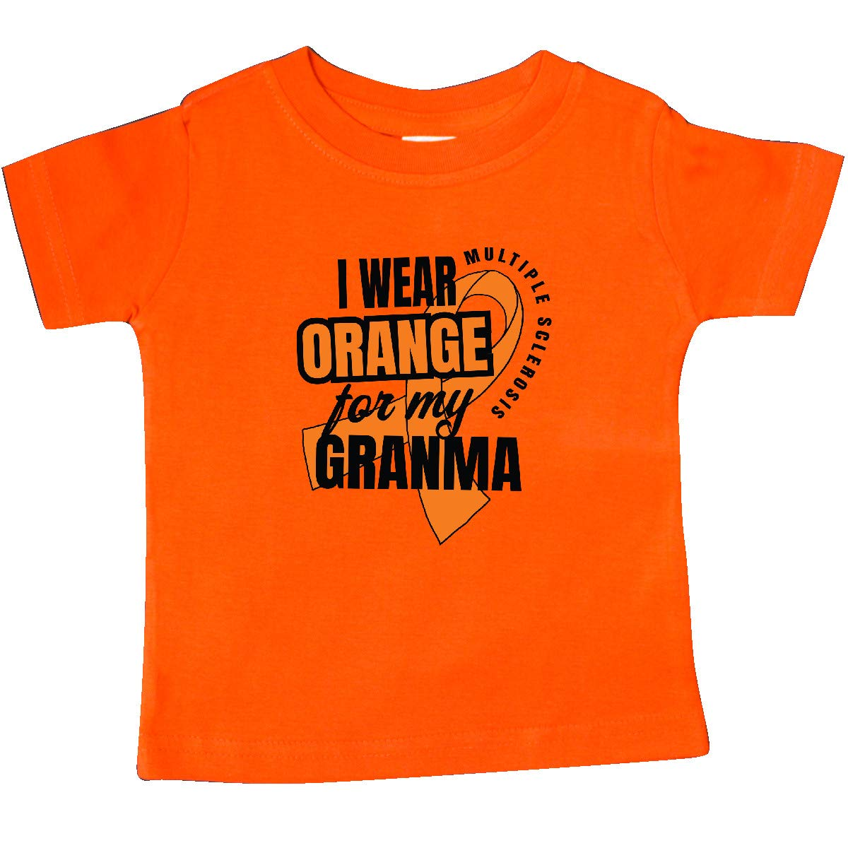 inktastic I Wear Orange for My Granma Multiple Sclerosis Awareness Baby T-Shirt
