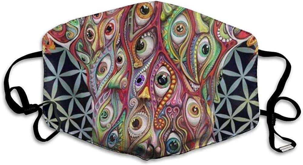 Pinturas ácidas de Viaje Cubiertas faciales a Prueba de Polvo Earloop Media Cara Cubierta de la Boca - Cubierta de Cara y Nariz