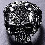 Jude Jewelers Stainless Steel Gothic Skull Vintage
