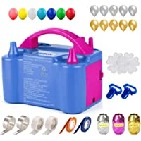 160 Pcs Balloon Pump KINBON Electric Portable Dual Nozzle Electric air Balloon Blower Pump, Electric Balloon Inflator…