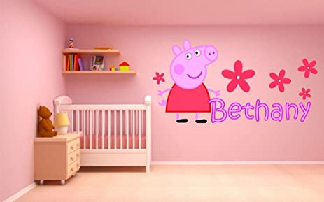 Amazoncom PEPPA PIG personalized customized childrens wall