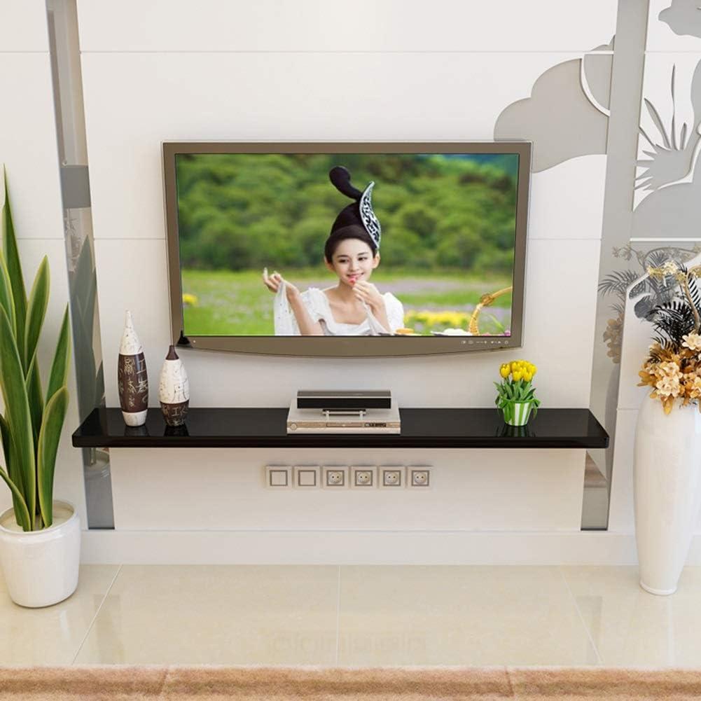 ChangDe CHDE Decoración de Pared Reja Flotante Fijo Cuboid Design TV Fondo de la Pared Set-Top Box Unidad de Almacenamiento Multiuso, 2 Colores, 4 tamaños Estante (Color : A, Size : 80 *