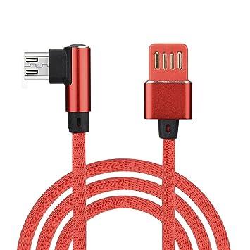 OYSOHE,1M Nylon Trenzado Micro USB 90 Grados en ángulo ...
