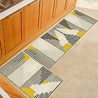 Morbuy Tapis de Cuisine Interieur Lavable Anti Slip Chambre à Coucher Salon Tapis d'Entrée Absorbant Antidérapant