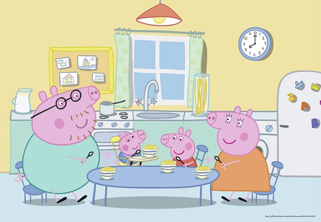 Ravensburger A la Maison Peppa Pig Puzzle 07596 2 x 12 pi/èces