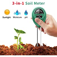 Vistefly Kit de Test de Sol avec 7 Outils Bonsaï,apteur d'humidité du Sol 3 en 1/lumière du Soleil/pH- Mini râteau,arroseurs pour Plantes,Jardin, Ferme, Pelouse