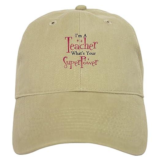 Amazon.com  CafePress - Super Teacher - Baseball Cap with Adjustable ... cfe416c76fc5