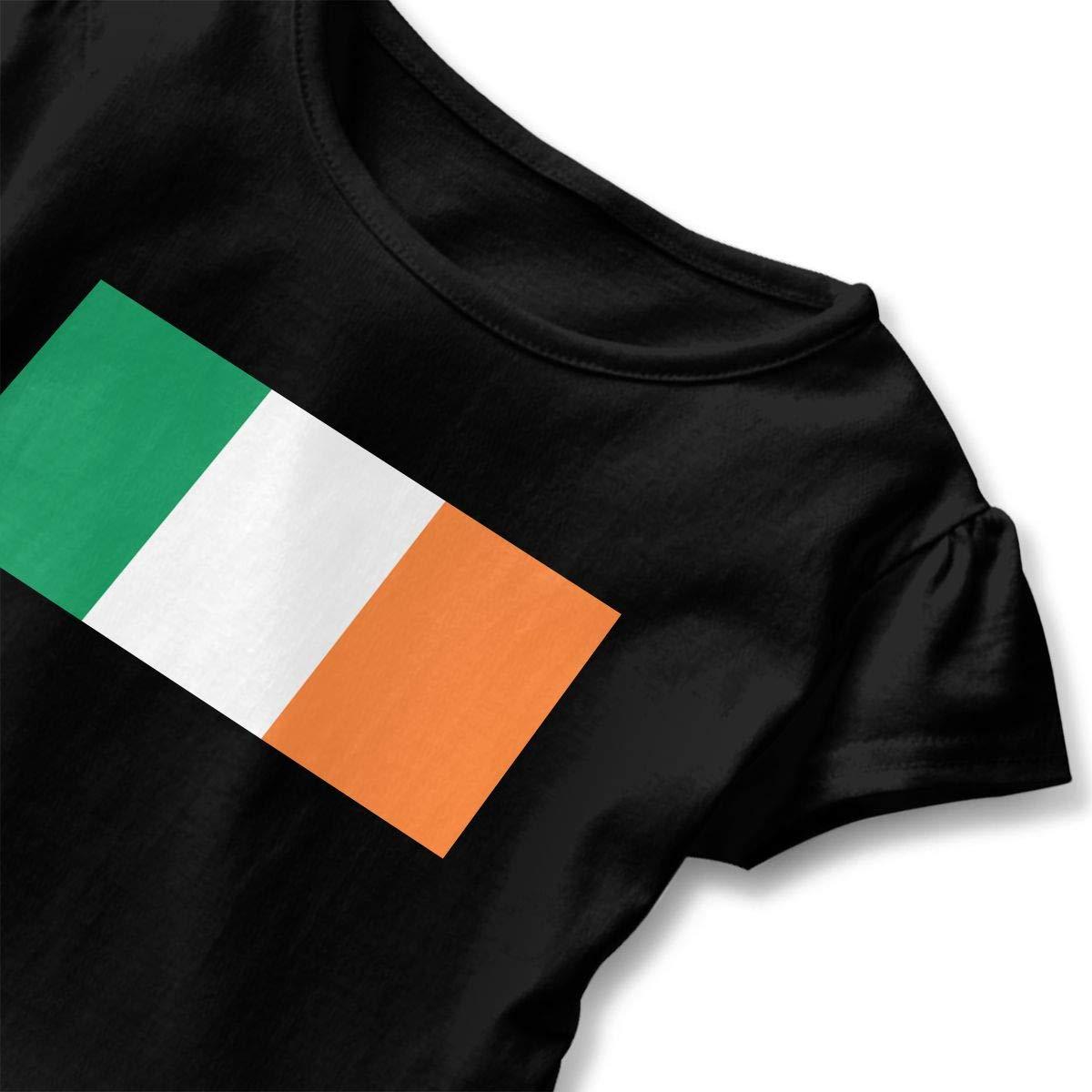SHIRT1-KIDS Irish Flag T-Shirts Toddler//Infant Girls Short Sleeve Ruffles Shirt Tee Jersey for 2-6T