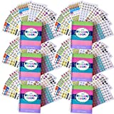 Bundle of Six 12-Month 2018 Reminder Binder Planners and Six Busy Mom Planner Sticker Sets (432 ct/set), Dates January-December 2018